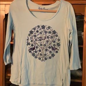 Lucky size small worn look comfortable T-shirt